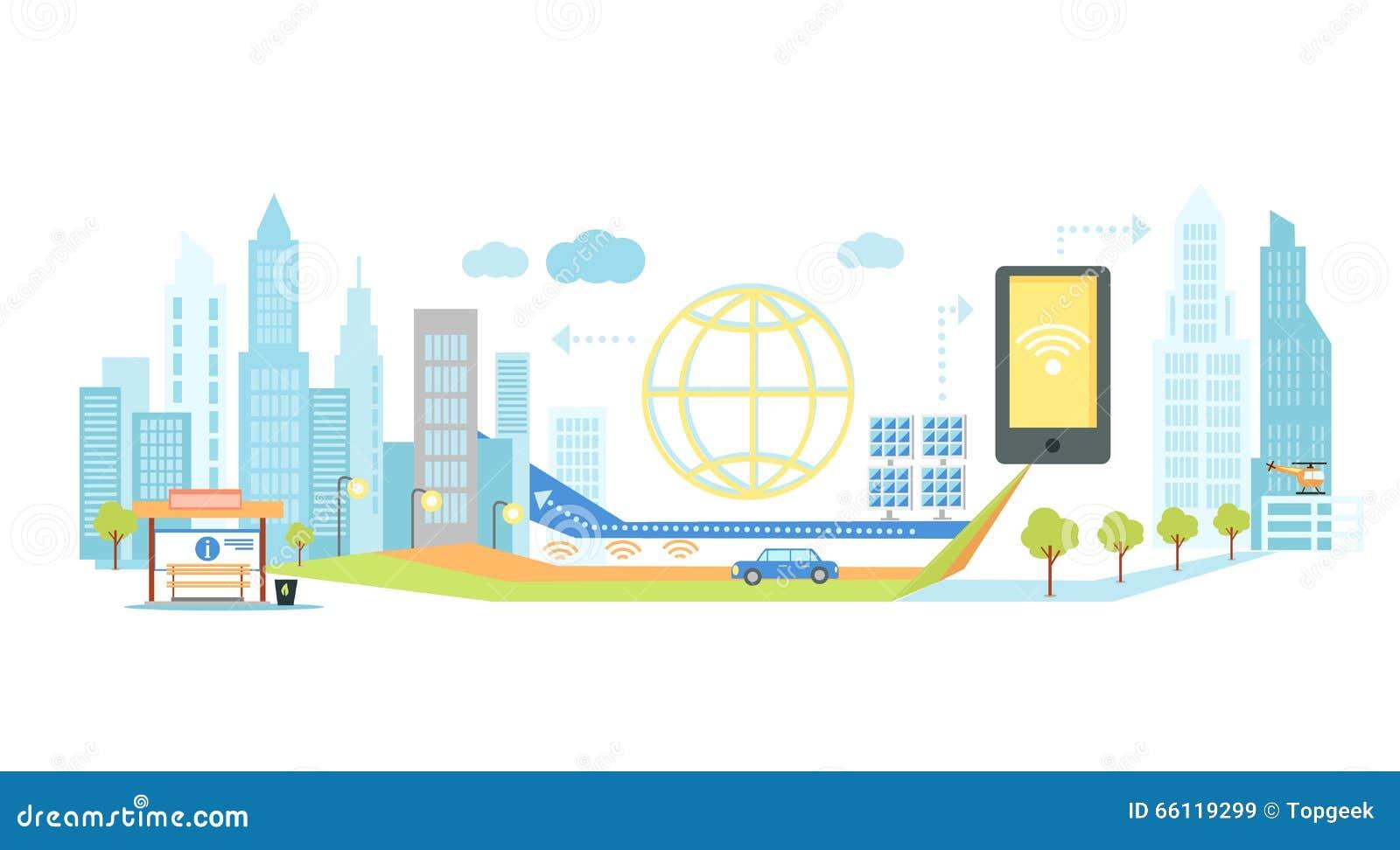 Intelligente Technologie in der Infrastruktur der Stadt