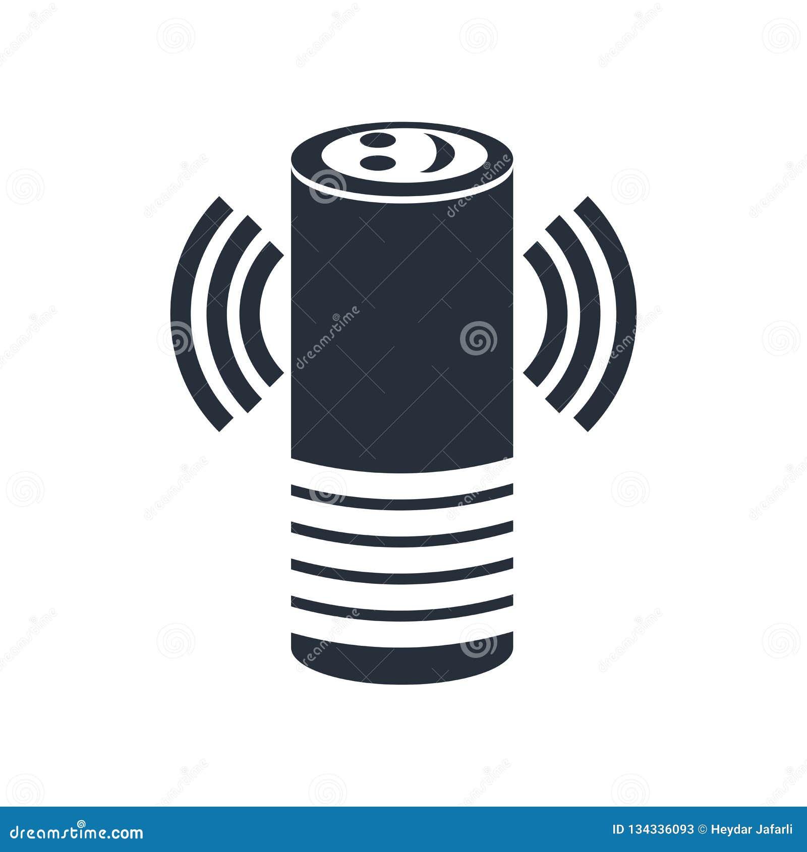 Intelligentes behilfliches Ikonenvektorzeichen und -symbol lokalisiert auf weißem Hintergrund, intelligentes behilfliches Logokon