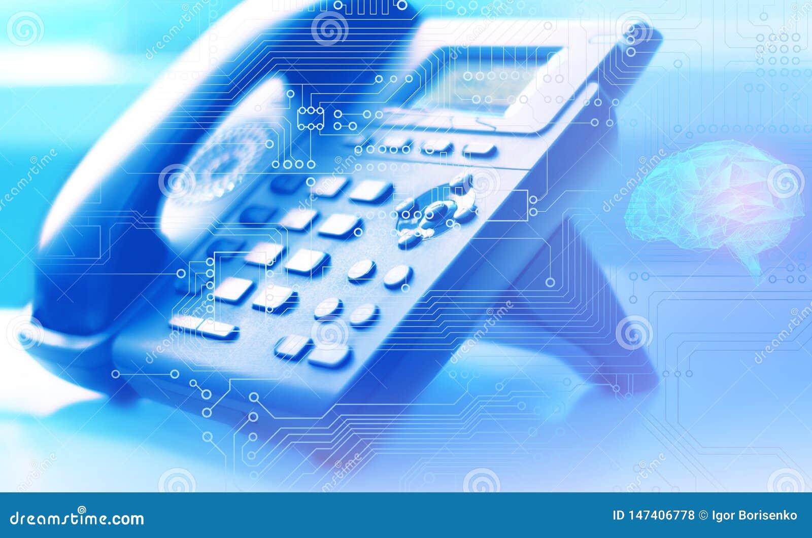 Intelligenza artificiale come rete globale di telefonia e del servizio clienti di Internet universalmente con l aiuto di un centr