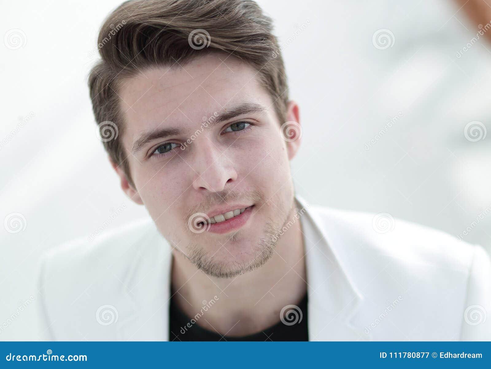 Intense man close up portrait