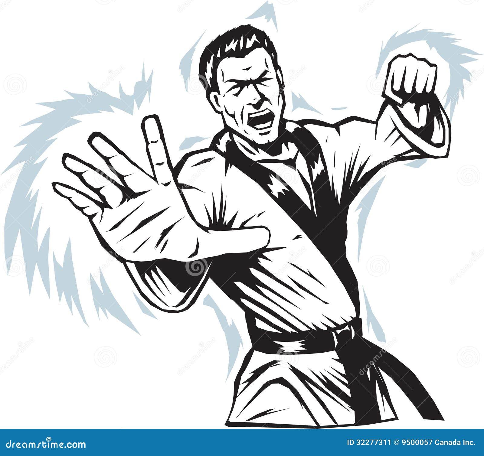 intense martial arts man stock image image 32277311 wrestling clip art vector wrestling clipart black and white