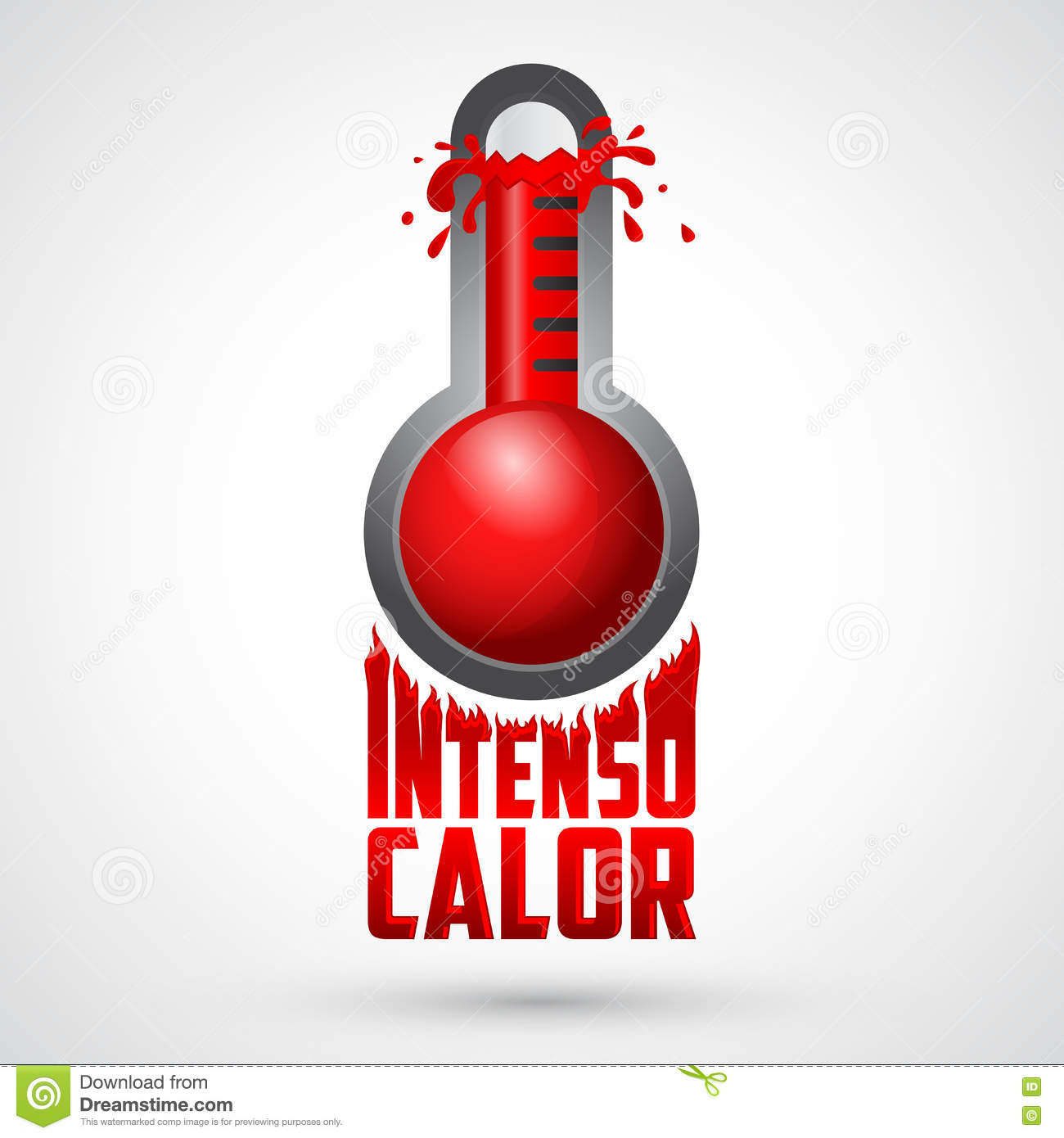 Intenso calor intense heat spanish text vector weather warning intenso calor intense heat spanish text vector weather warning sign buycottarizona Image collections