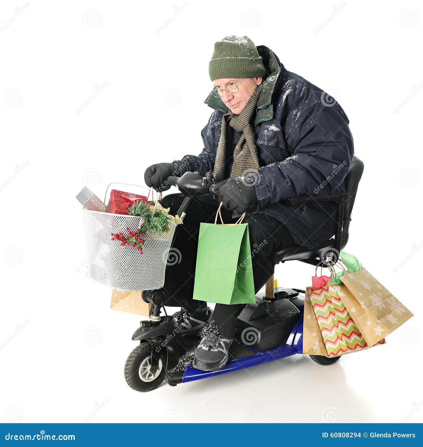 Intensywny Starszy Bożenarodzeniowy kupujący