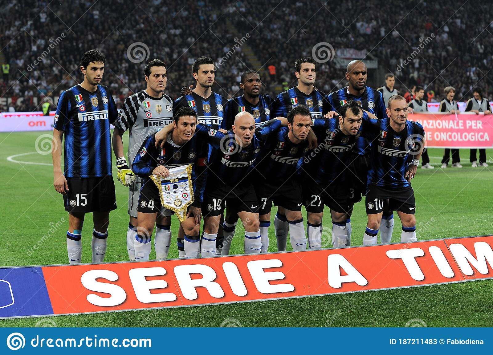 Inter Players In Formation Before The Match Editorial Stock Photo Image Of Playing Italian 187211483