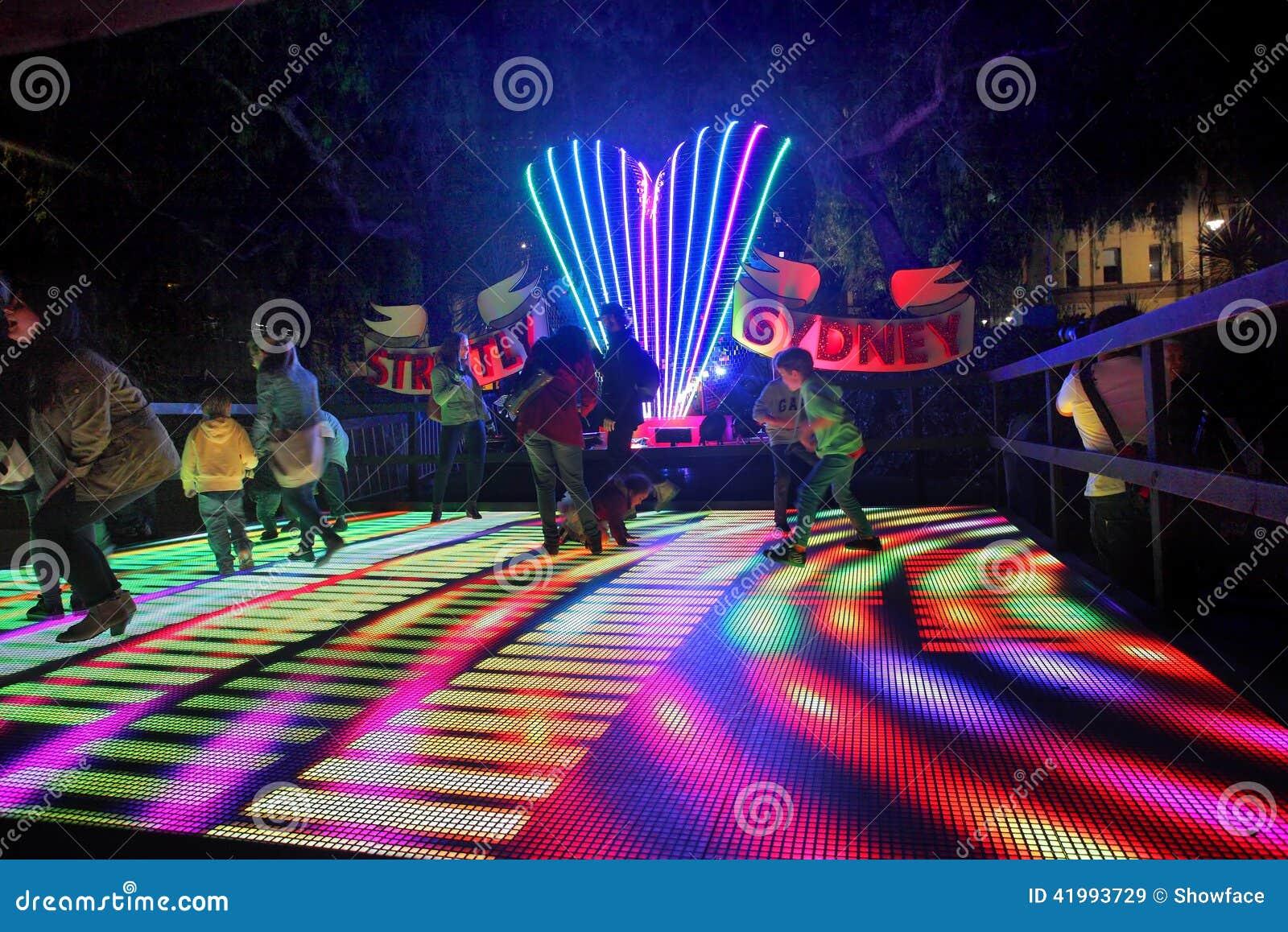 Interactieve de dansvloer van families enjoyStrictly Sydney