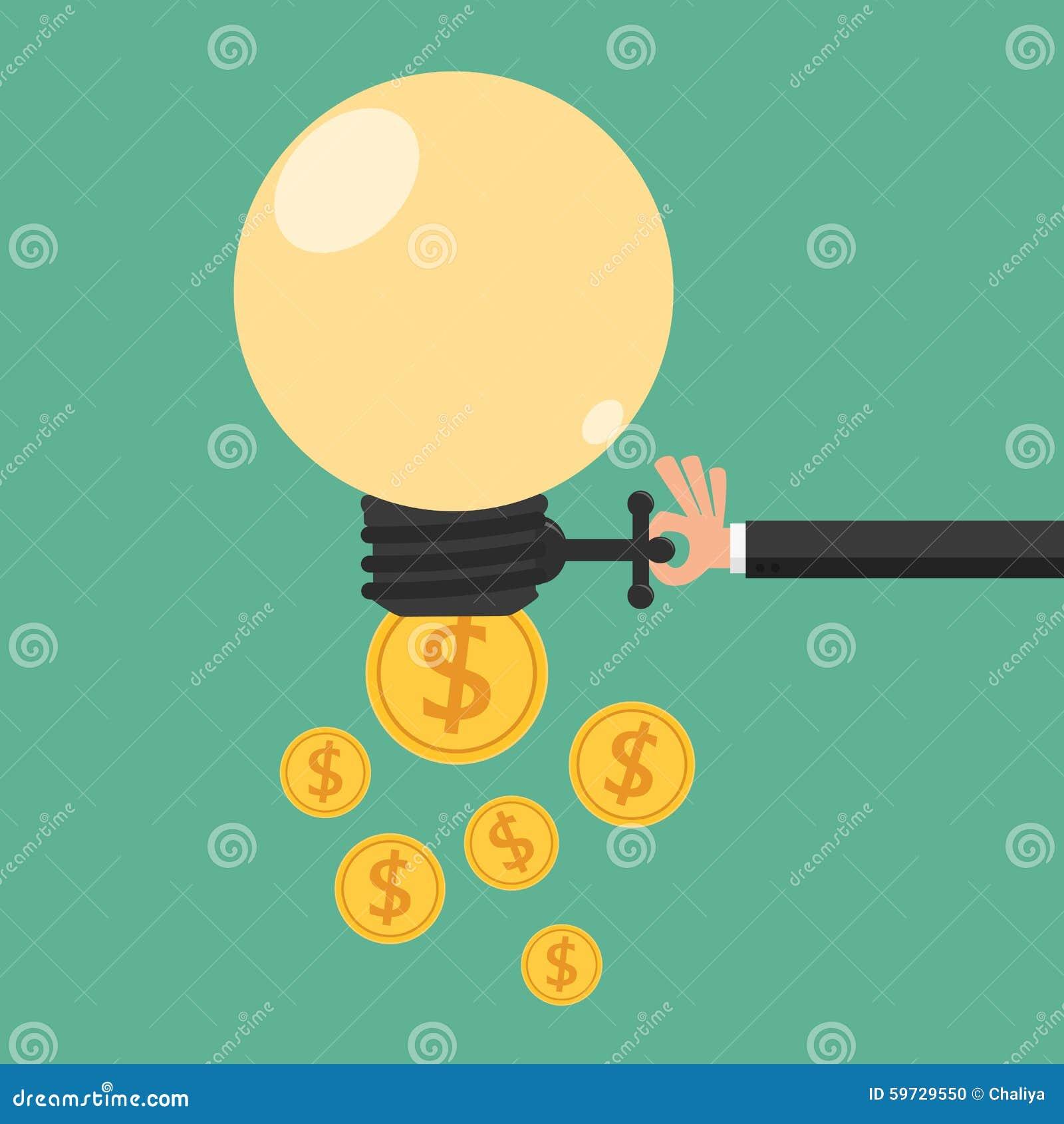 Intercambio abierto de la idea del hombre de negocios al dinero Concepto de renta pasiva