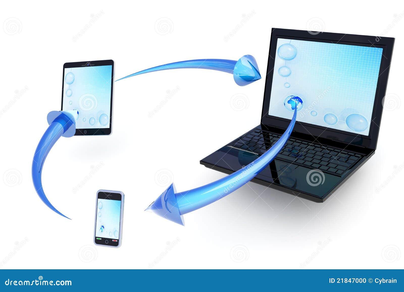 Intercambio de datos entre los dispositivos móviles