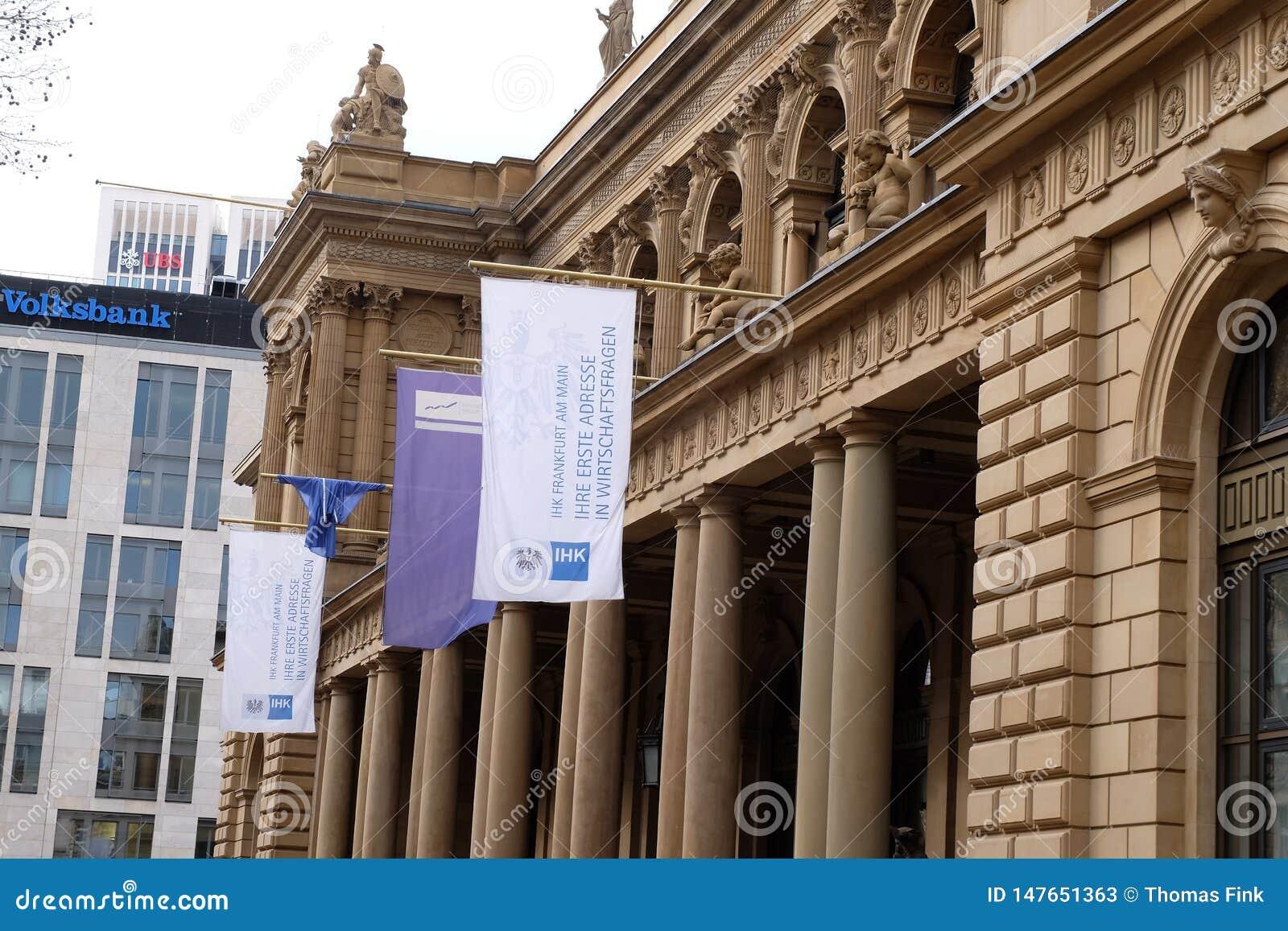 Intercambio del mercado de acción de Francfort Börse