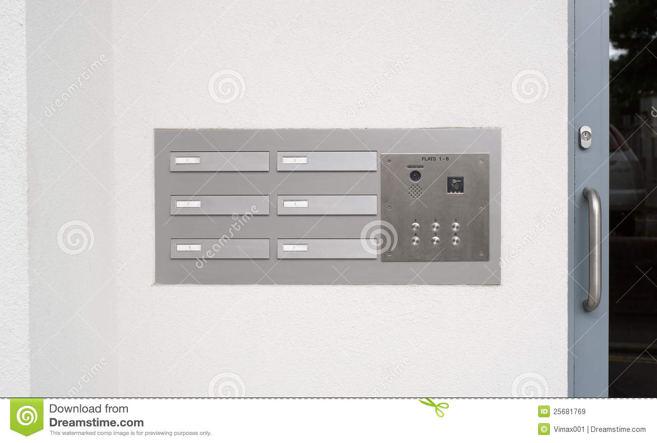 Intercom Doorbell And Access Code Panel Royalty Free Stock