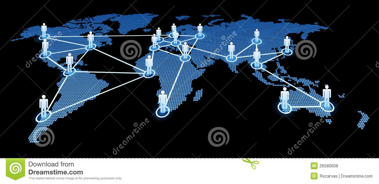 Interconnected World Royalty Free Stock Photos - Image: 26580608