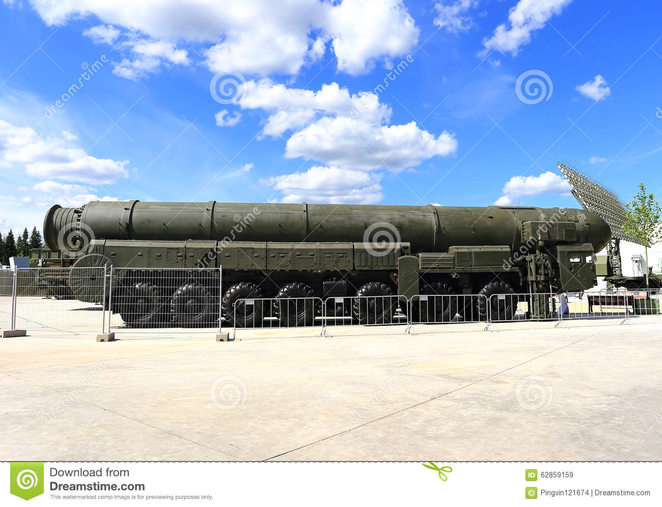 Intercontinental Ballistic Missile Stock Image - Image of