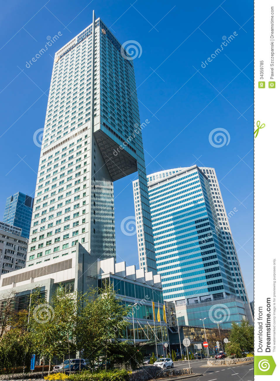 Intercontinental hotel in warsaw editorial image image for Top design hotels poland