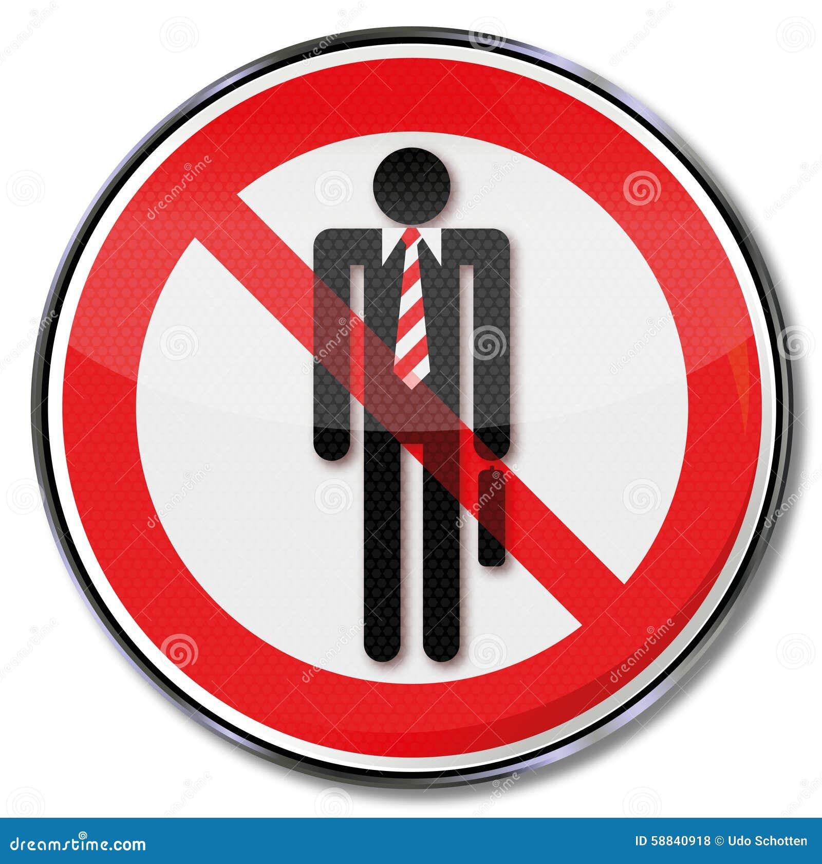 Interdiction pour des costumes