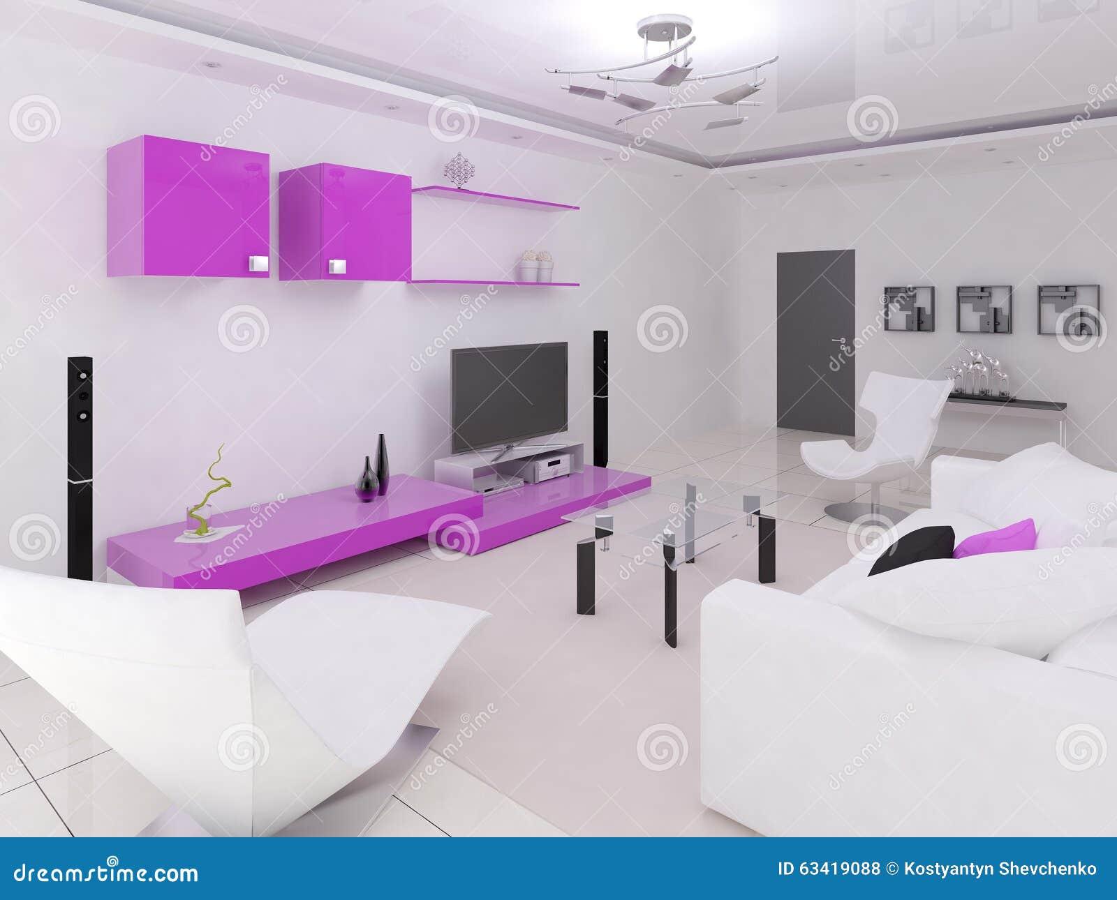 Interer functional living room stock illustration for Functional living room