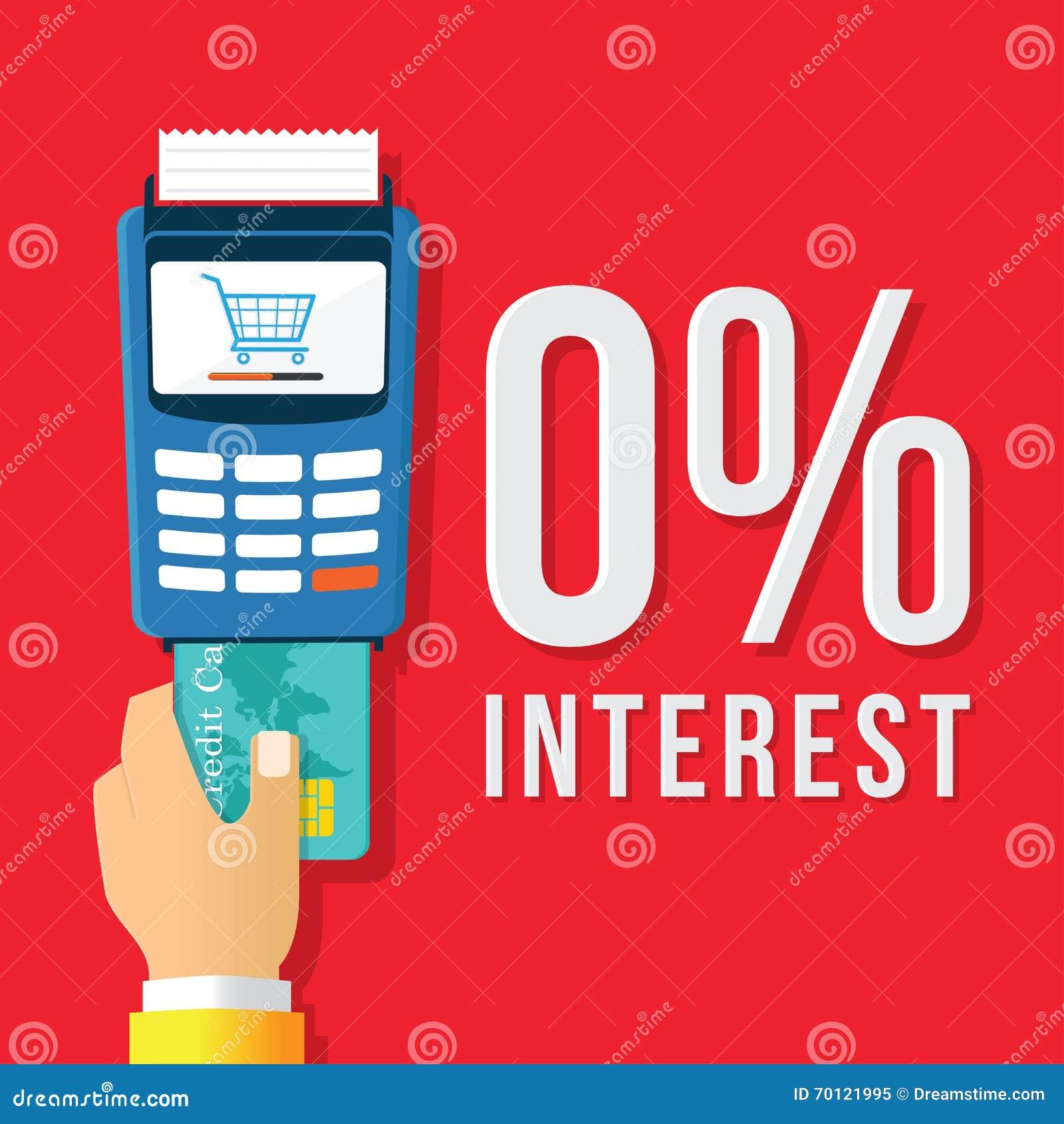 6 interest Credit payment stock vector. Illustration of bill