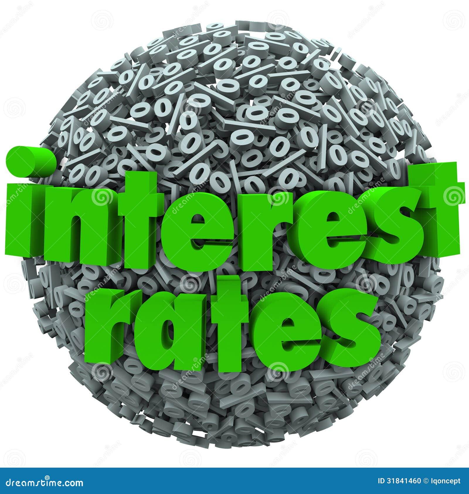 Interest Rates Percent Sign Symbol Sphere Mortgage Loan ...