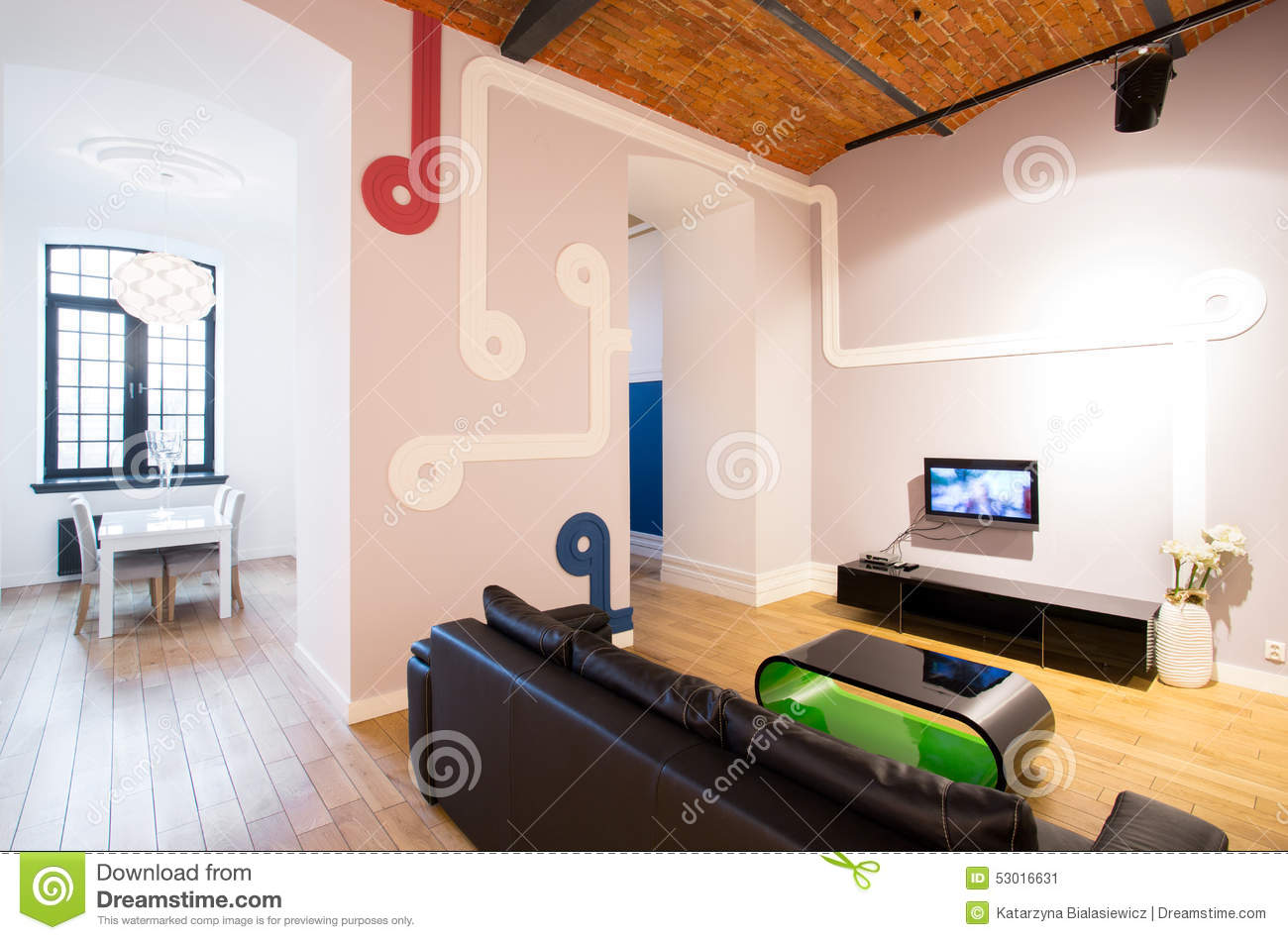 Interesting Decoration On The Wall Stock Photo Image