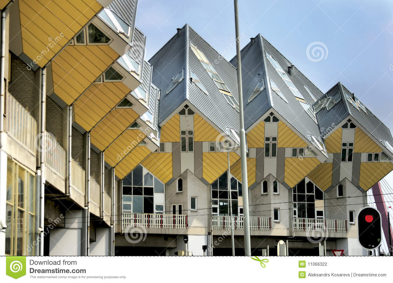 The interesting home architecture in rotterdam stock photo for Architecture rotterdam