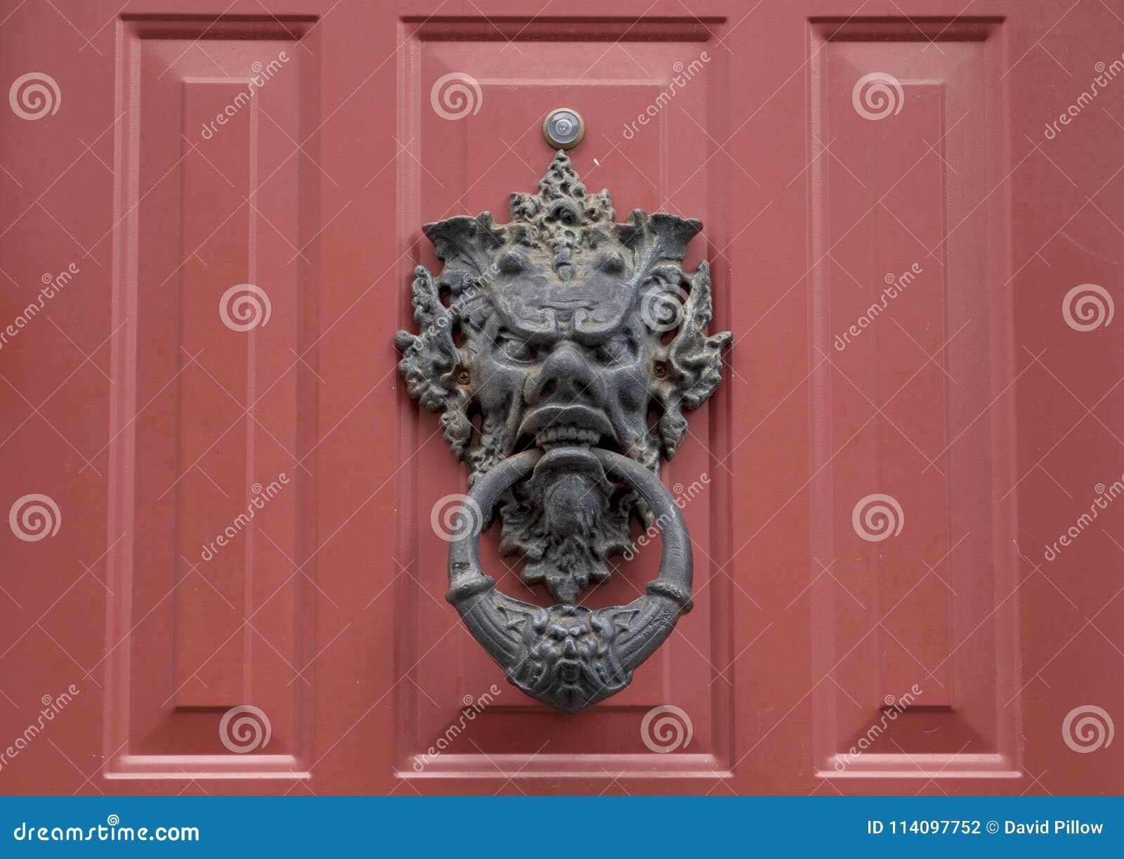 Interesting metal doorknocker, South Philadelphia