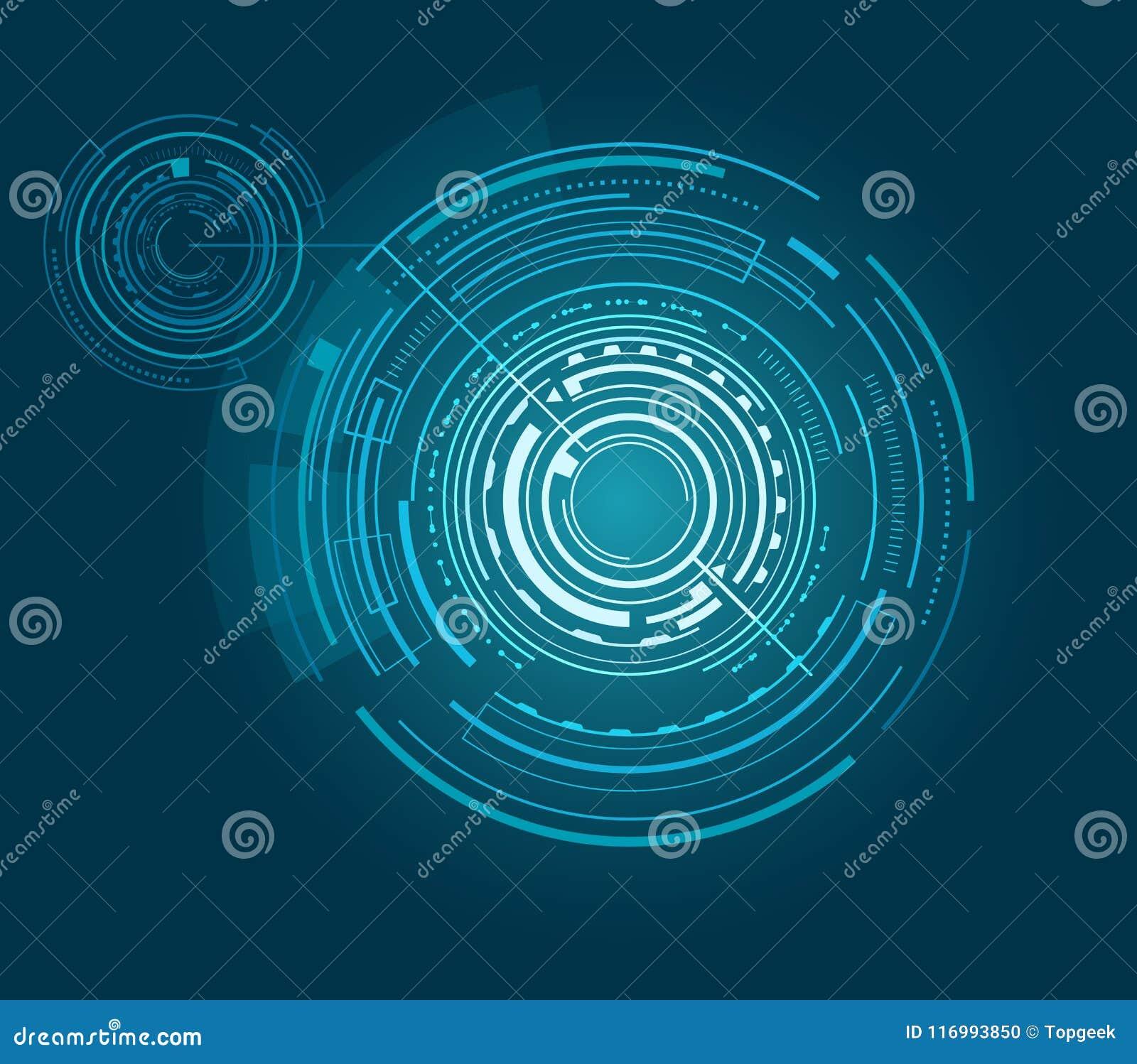 Interfaccia futuristica con molte forme geometriche