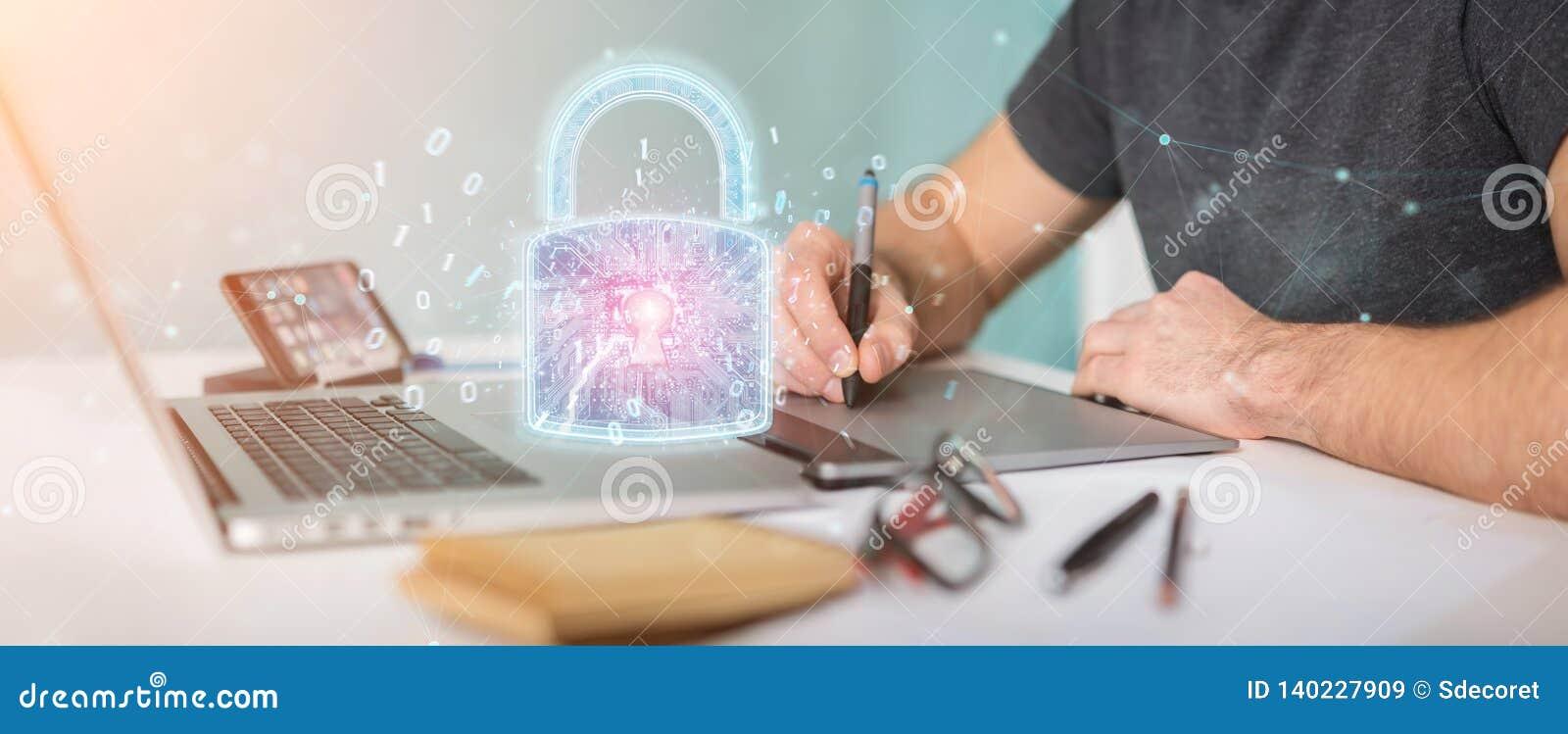 Interface de protection de sécurité de Web employée par le rendu du concepteur 3D