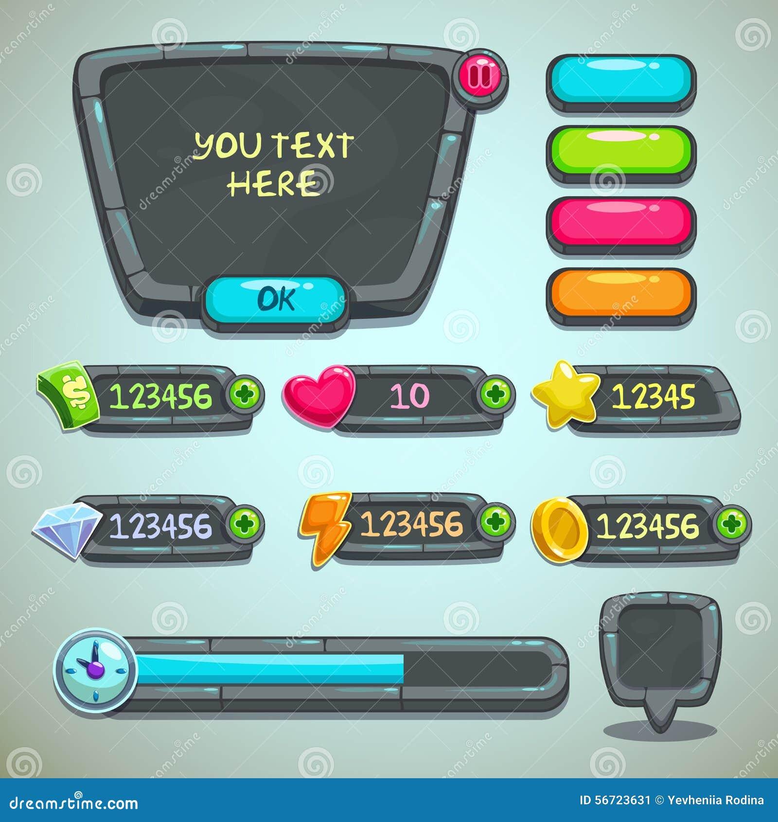 Interface de utilizador de pedra cinzenta