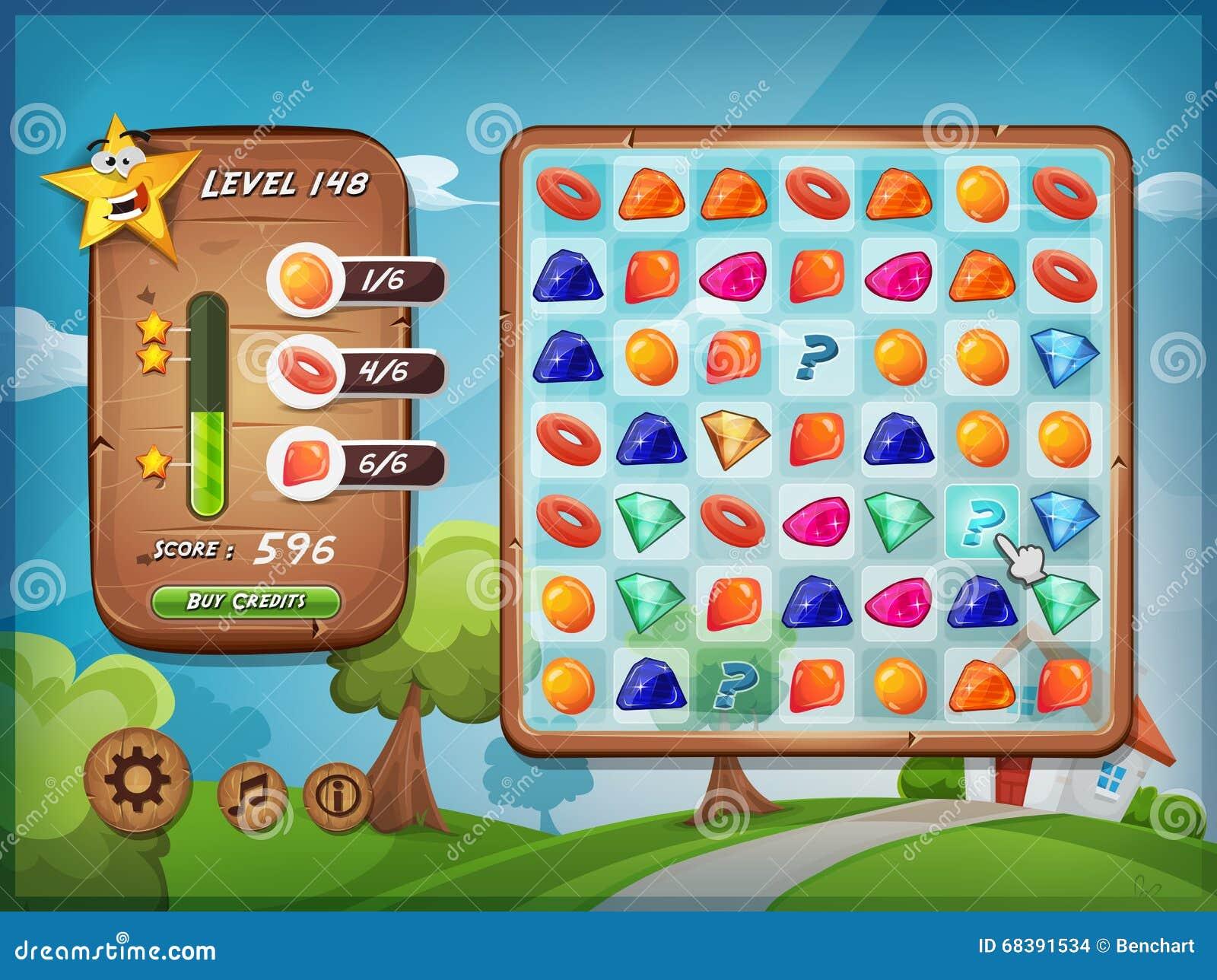 Interface utilisateurs de jeu de changeur pour le PC de Tablette