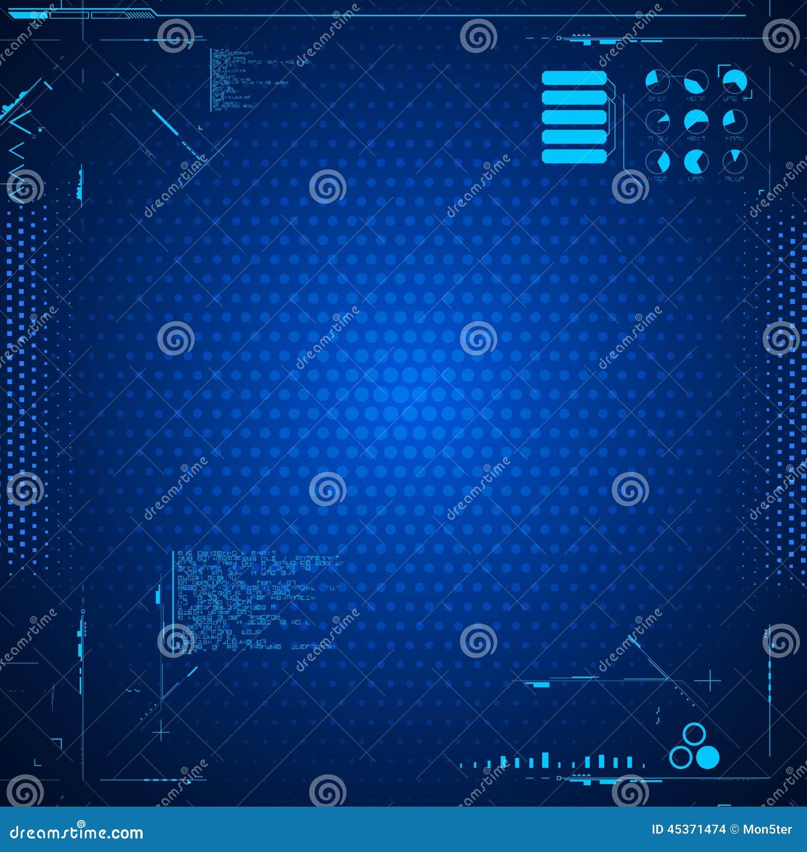 Interface utilisateurs graphique futuriste