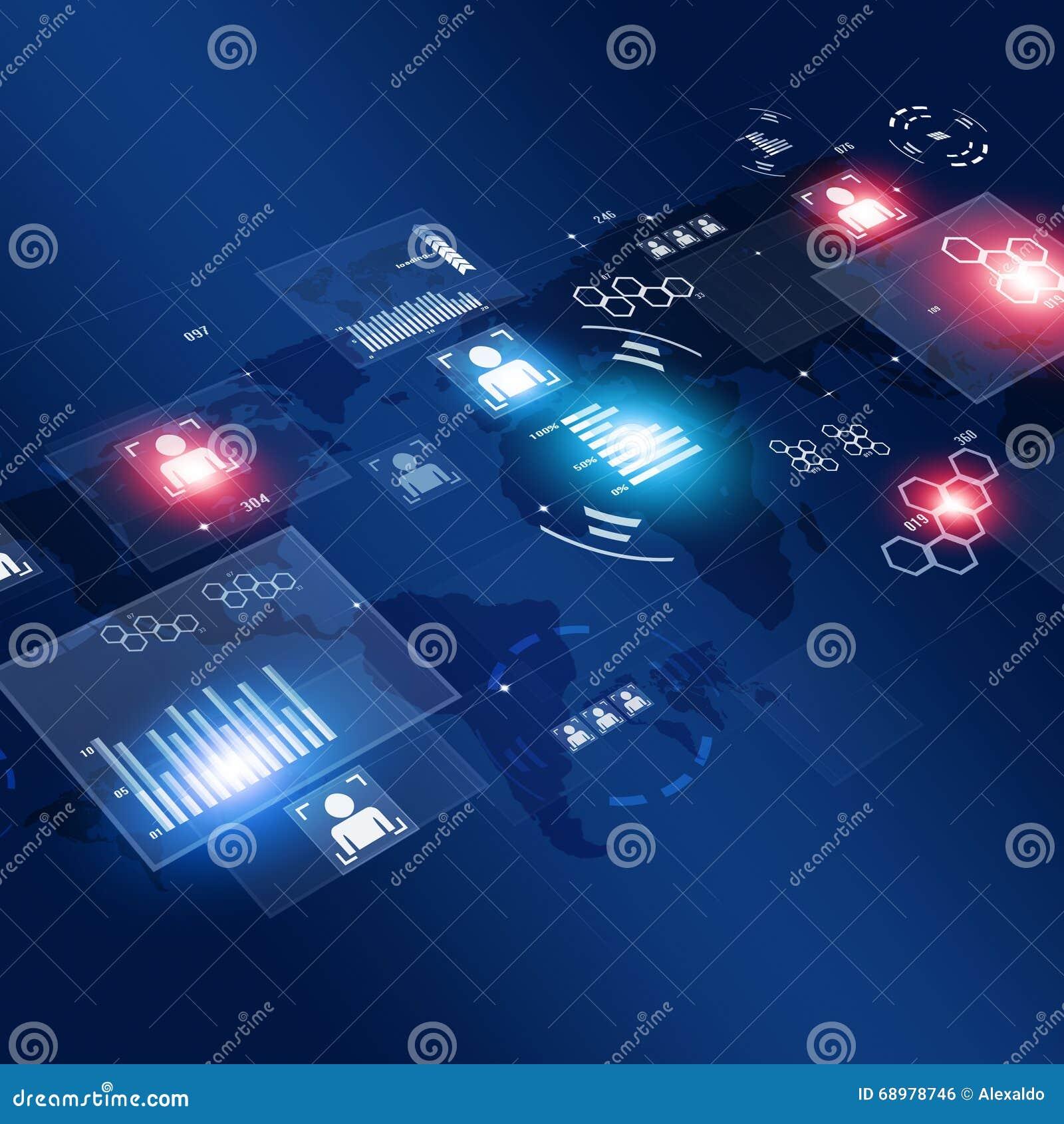 Interfaz de la informática del concepto