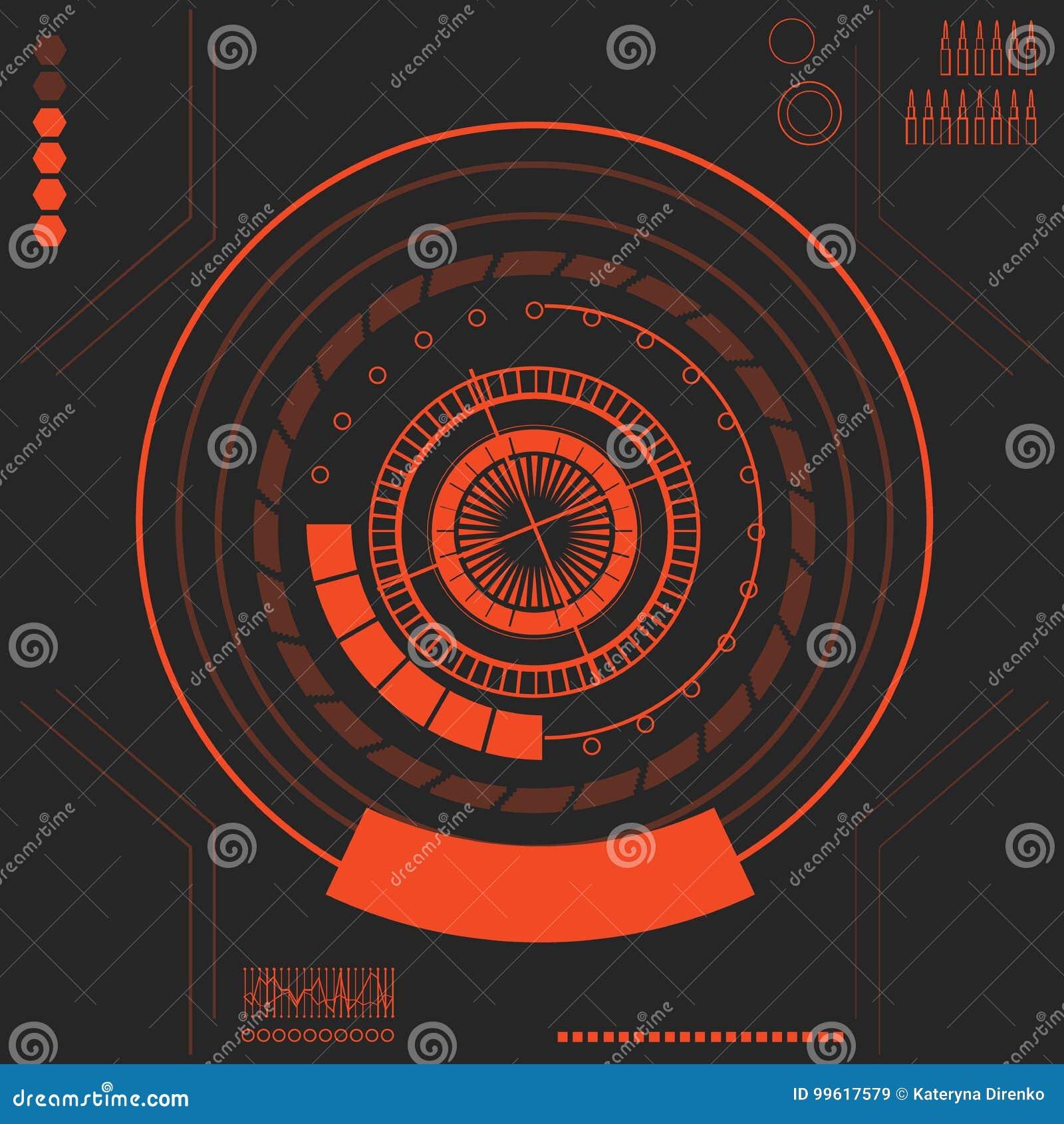 Interfaz de usuario futurista HUD de Sci fi Ilustración del vector