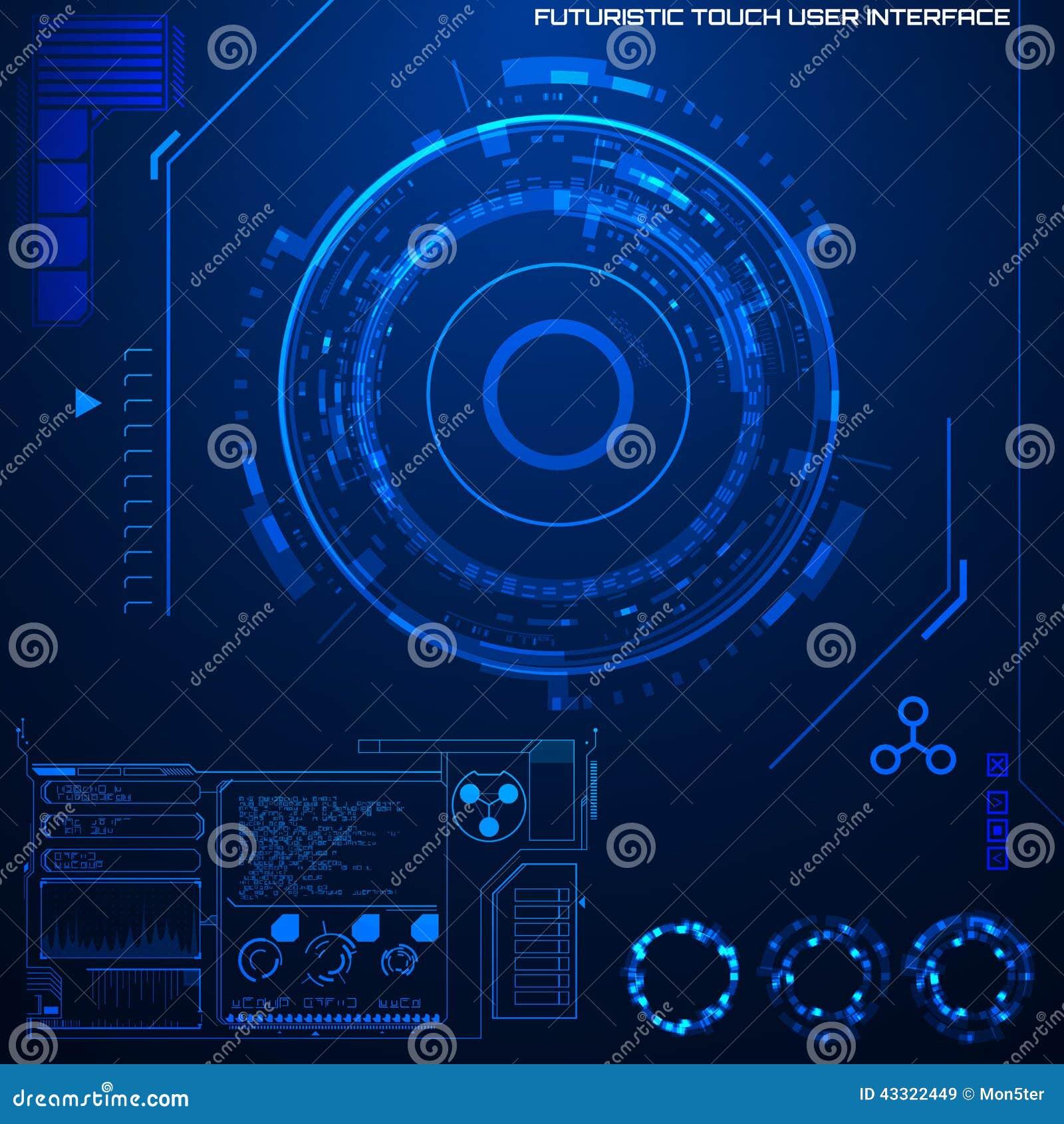 Interfaz de usuario gráfica futurista