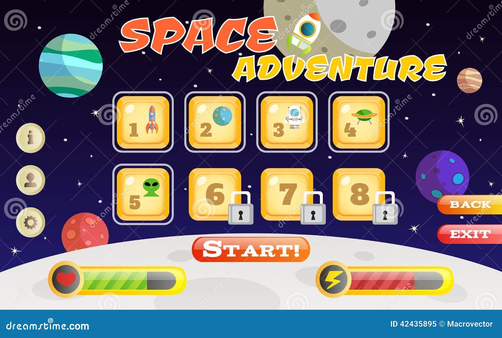 Interfaz del juego del Scifi