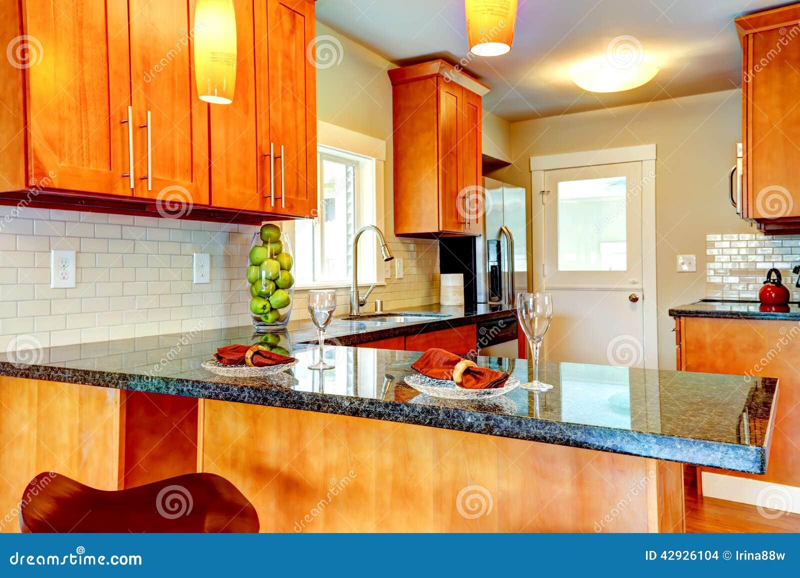 Interio moderne de pi ce de cuisine avec le plan de for Plan cuisine 2d