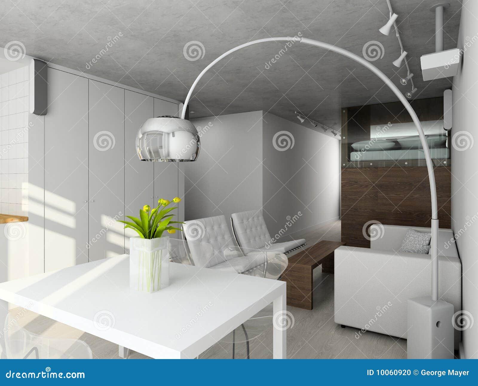 Interioir da sala de visitas moderna