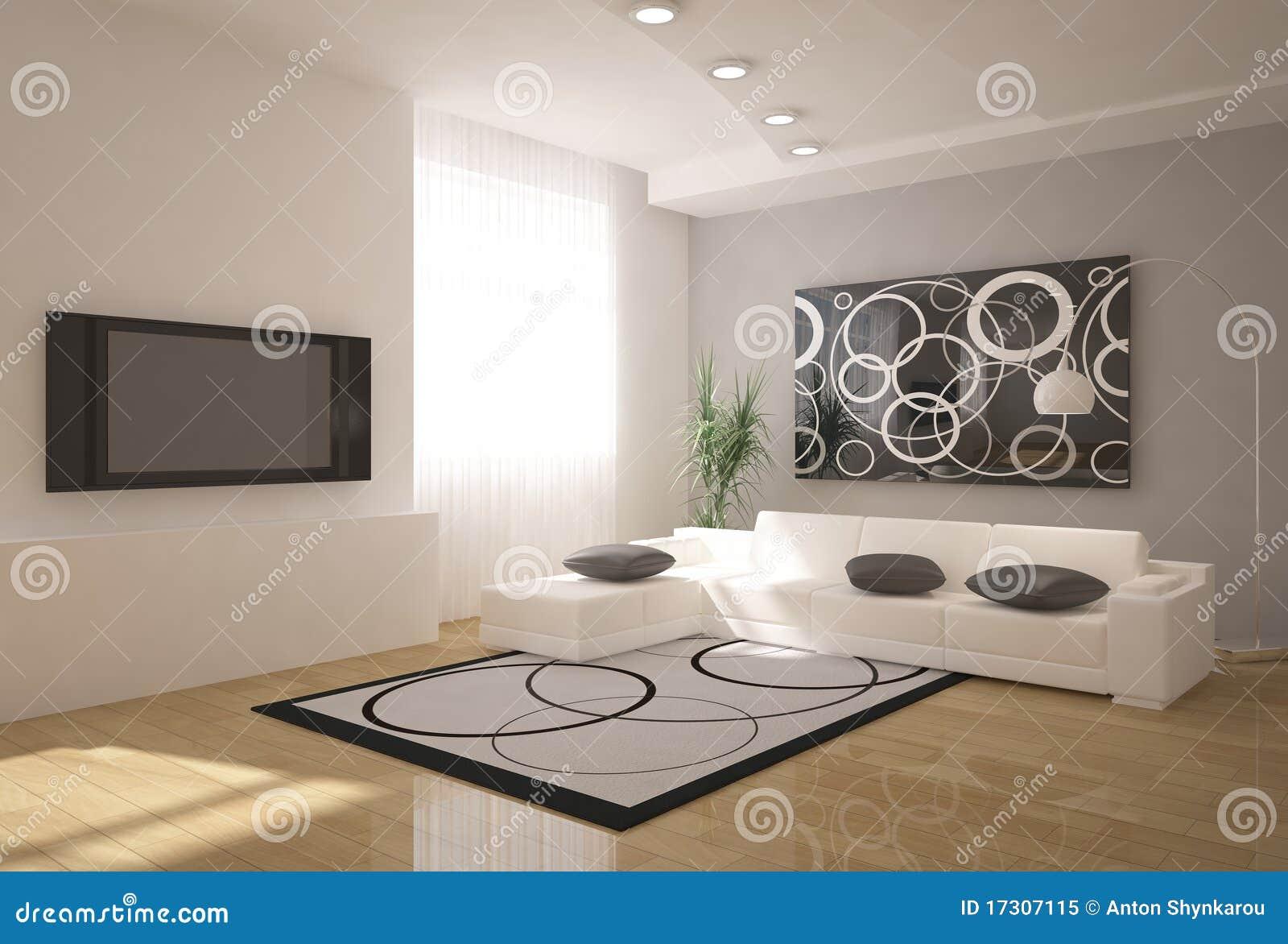 Interior 3d moderno