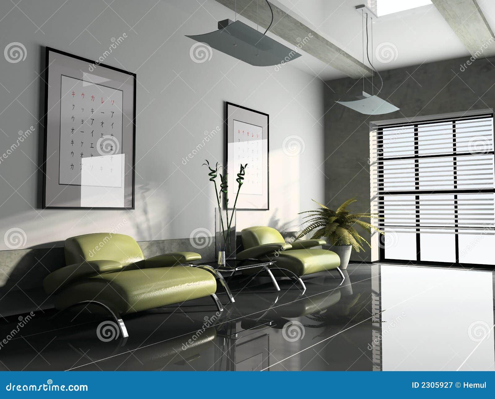 Interior 3D rendering stock illustration. Illustration of furniture - 2305927