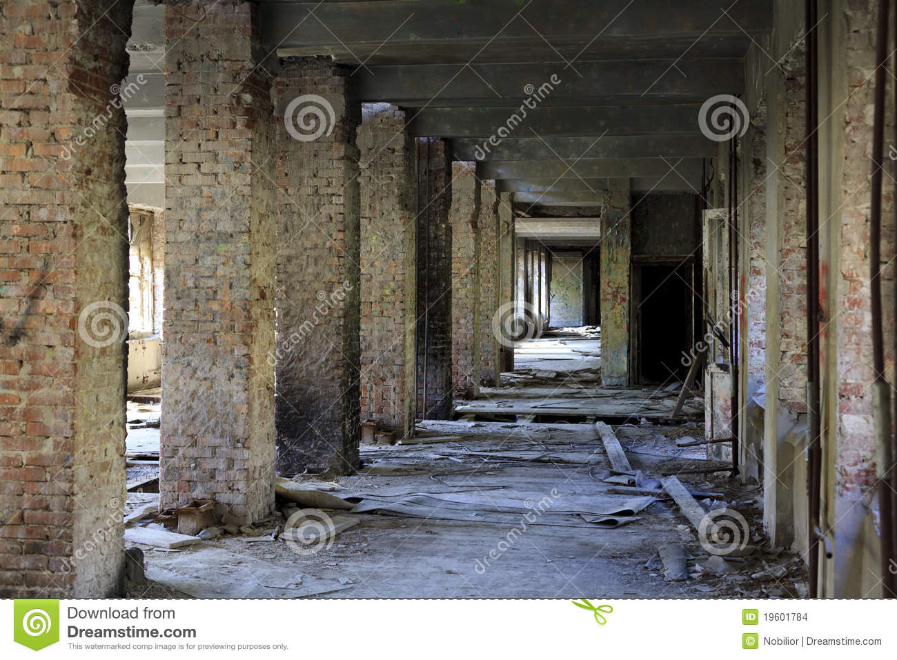 Interior of an abandoned construction.