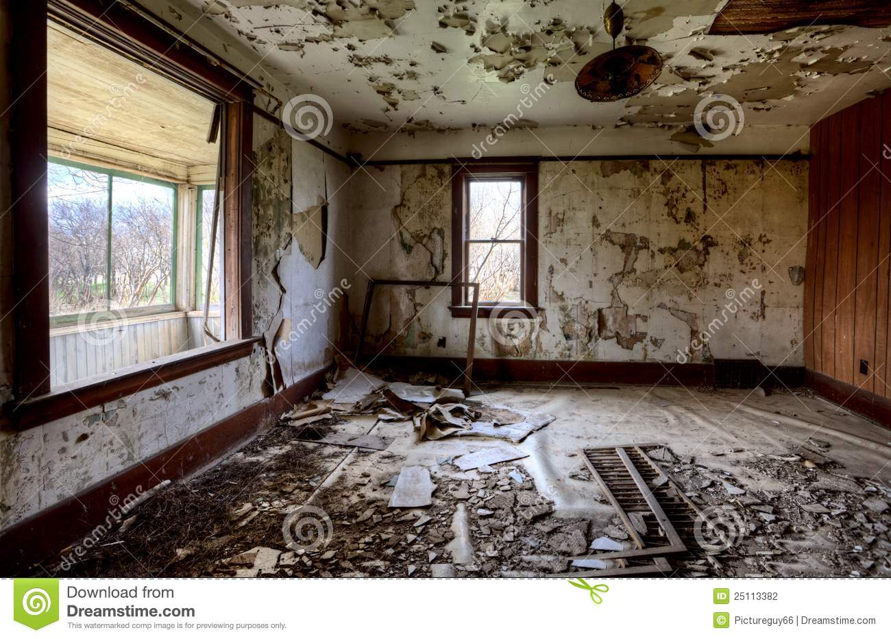 Interior Abandoned House Prairie