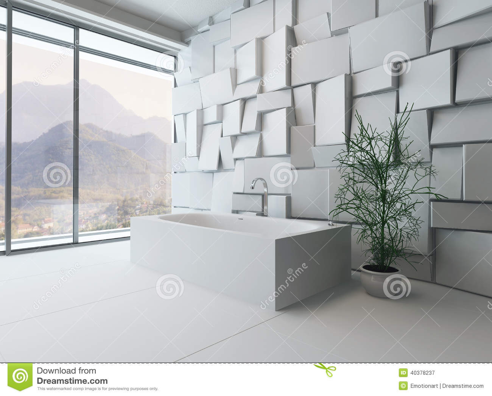 Moderno Do Banheiro Com Banheira Foto de Stock Imagem: 40378237 #82A328 1300 1065