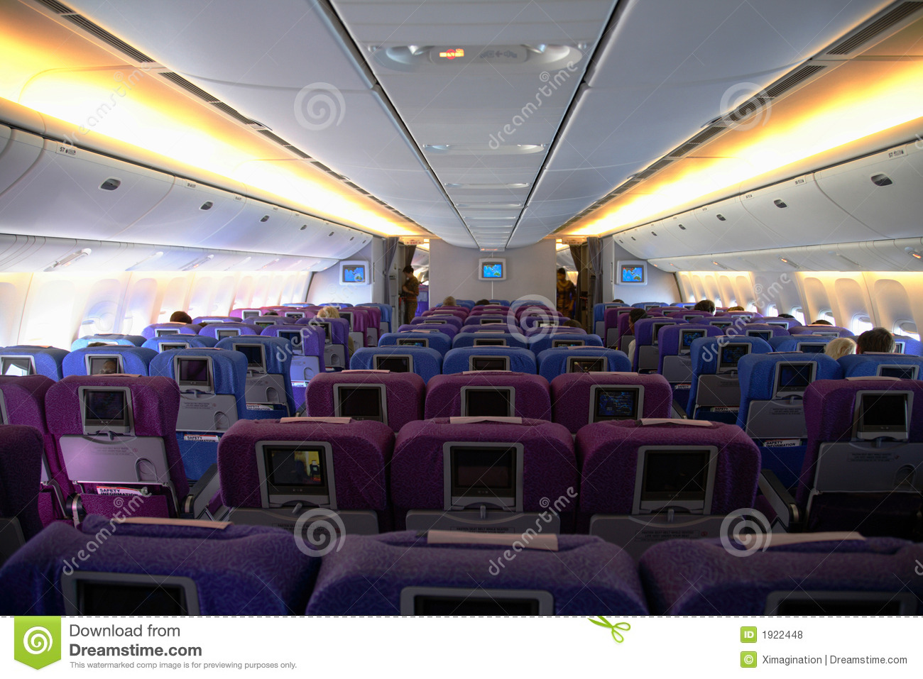 Interior Of An Airplane Royalty Free Stock Photos - Image
