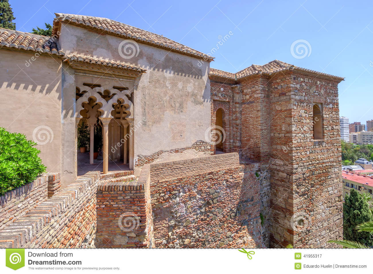interior of the alcazaba of malaga spain stock photo image 41955317. Black Bedroom Furniture Sets. Home Design Ideas