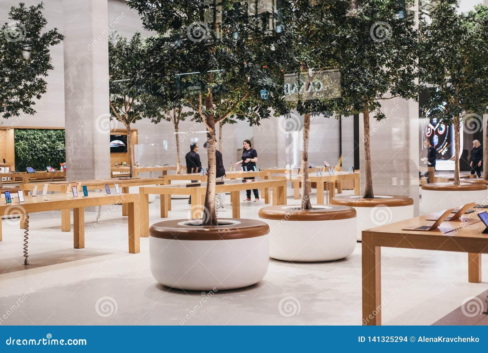 Interior Of Apple Store On Regent Street, London, UK