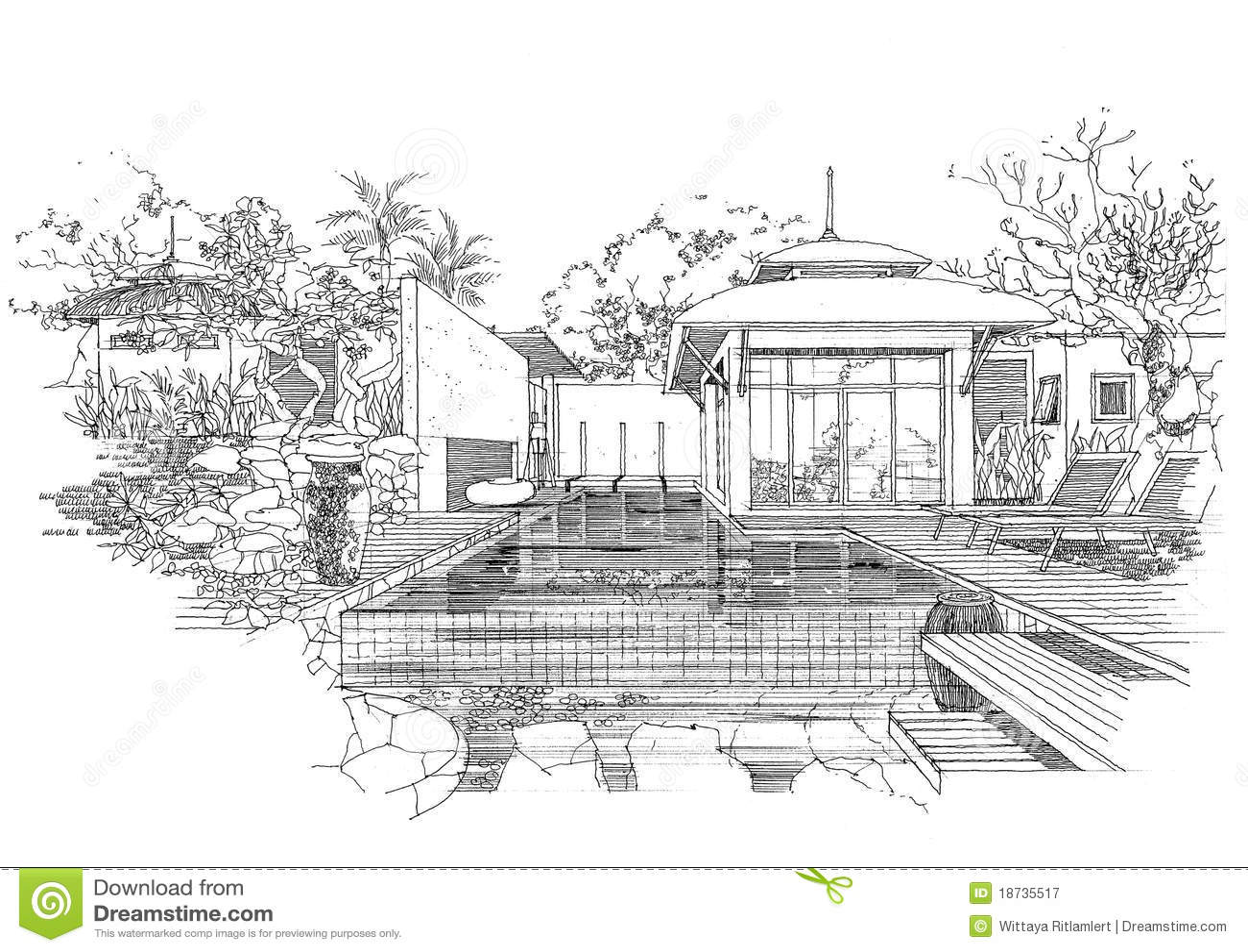 Interior architecture sketches