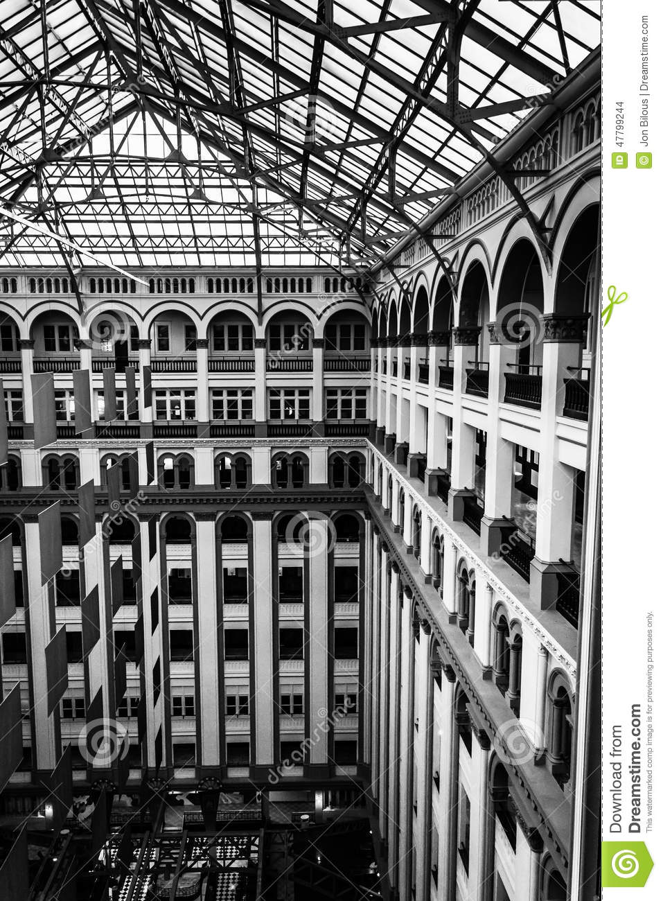 Interior architecture at the old post office in washington dc editorial stock image image for Department of interior jobs washington dc