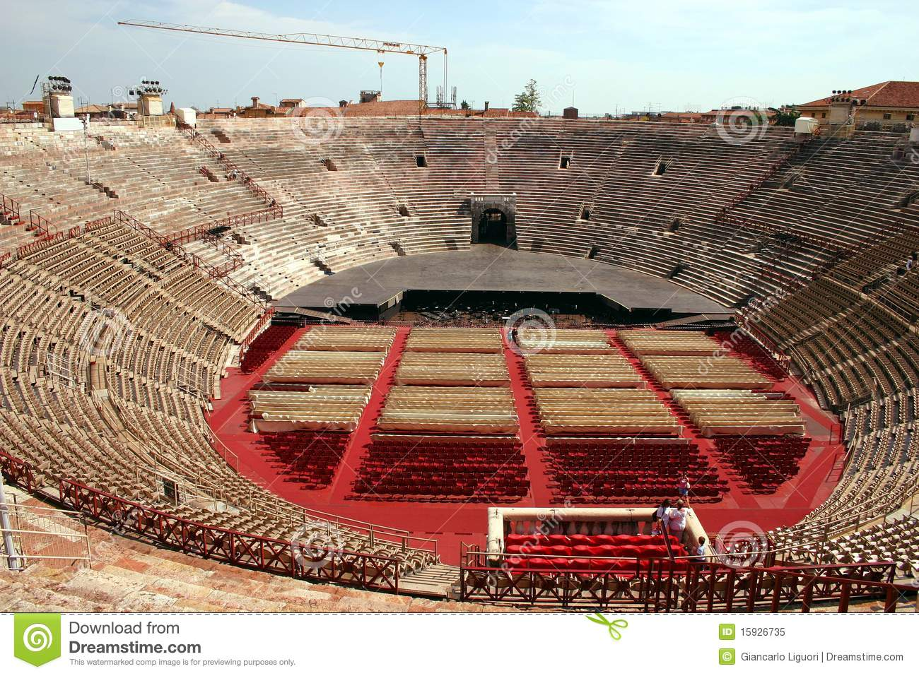 interior of the arena in verona italy royalty free stock. Black Bedroom Furniture Sets. Home Design Ideas
