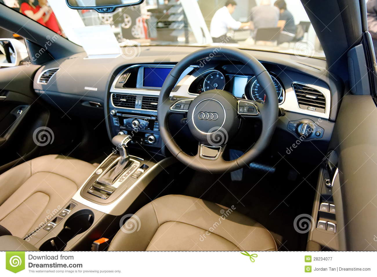 Interior Of Audi A5 Cabriolet At Audi Centre Singapore Editorial Photography Image Of Cabriolet Gear 28234077