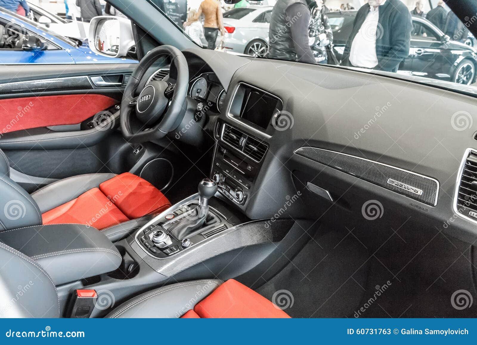 Interior Audi A5 Cabriolet Editorial Stock Photo Image Of Design 60731763