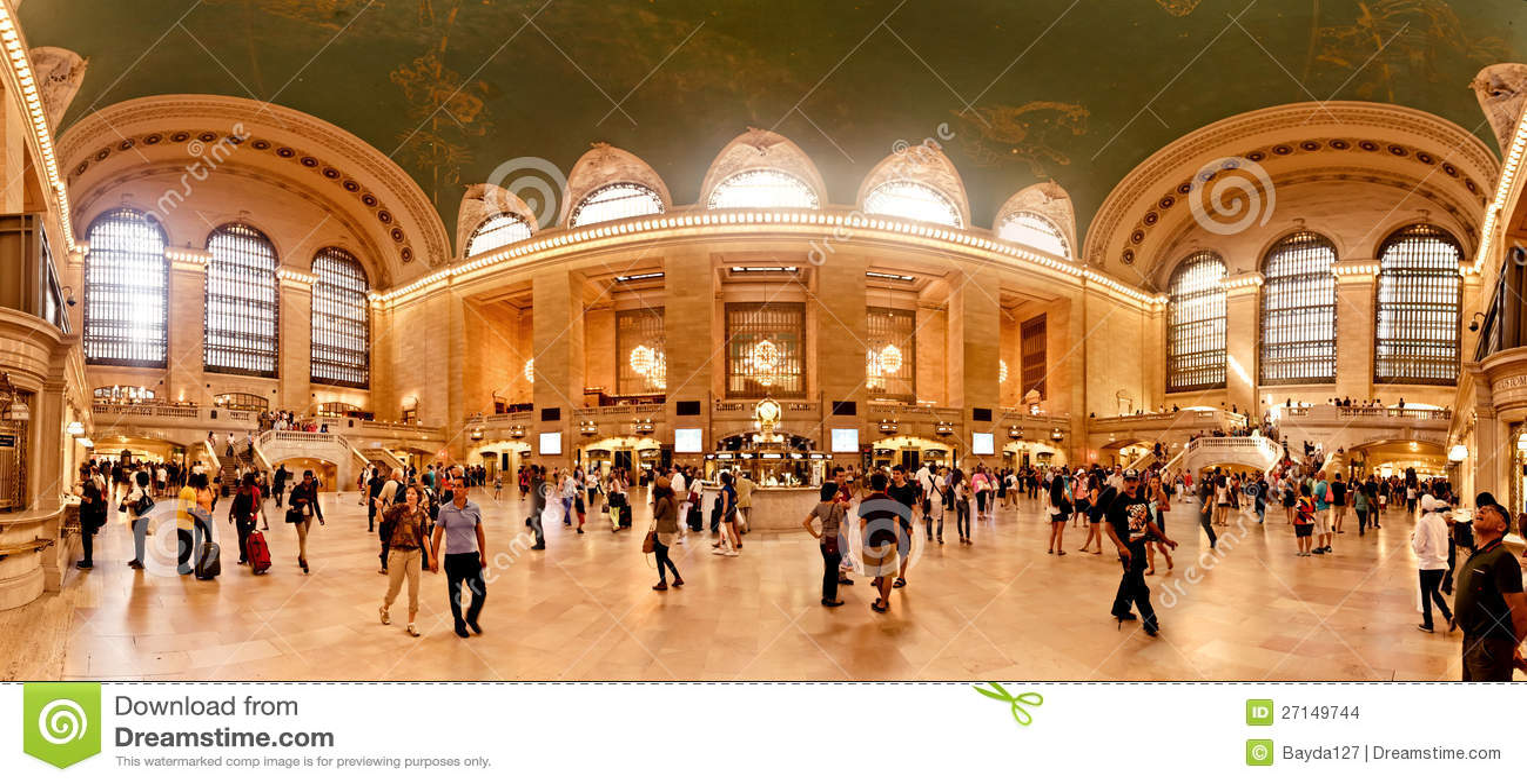 Interior av den storslagna centralstationen i New York City