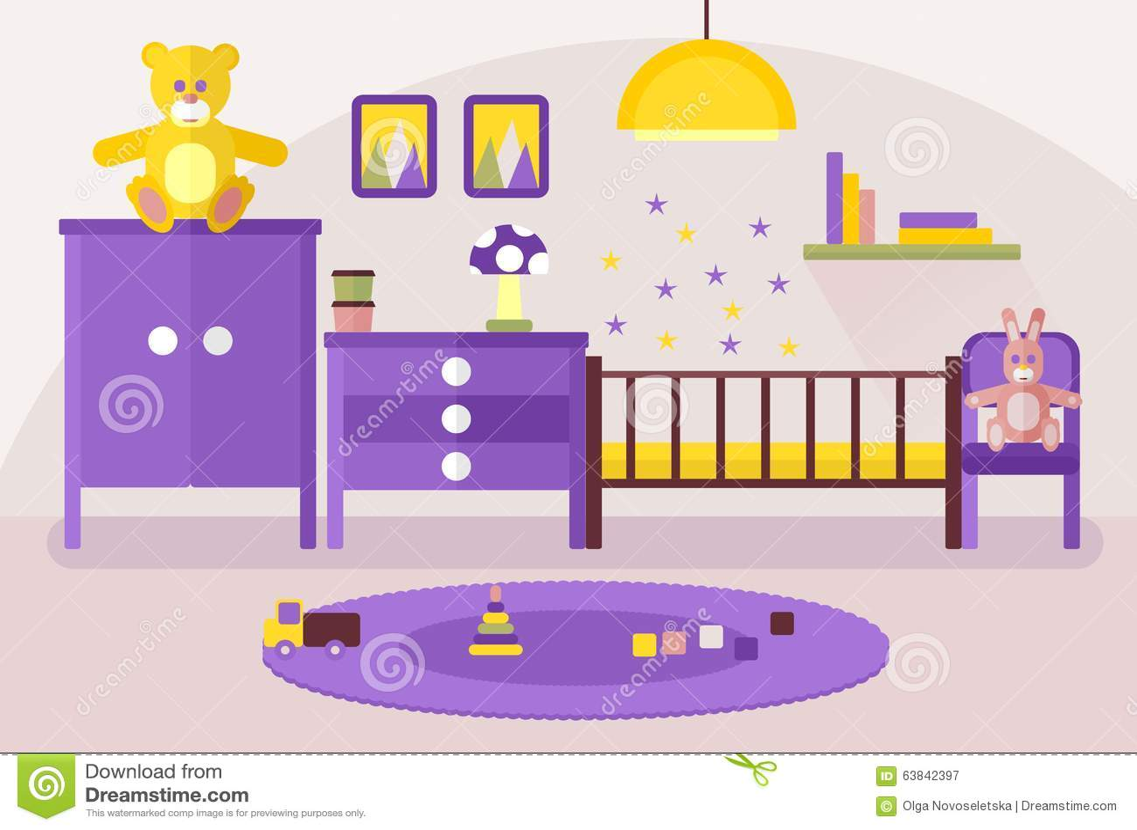 Interior Baby Room Stock Illustration Image 63842397