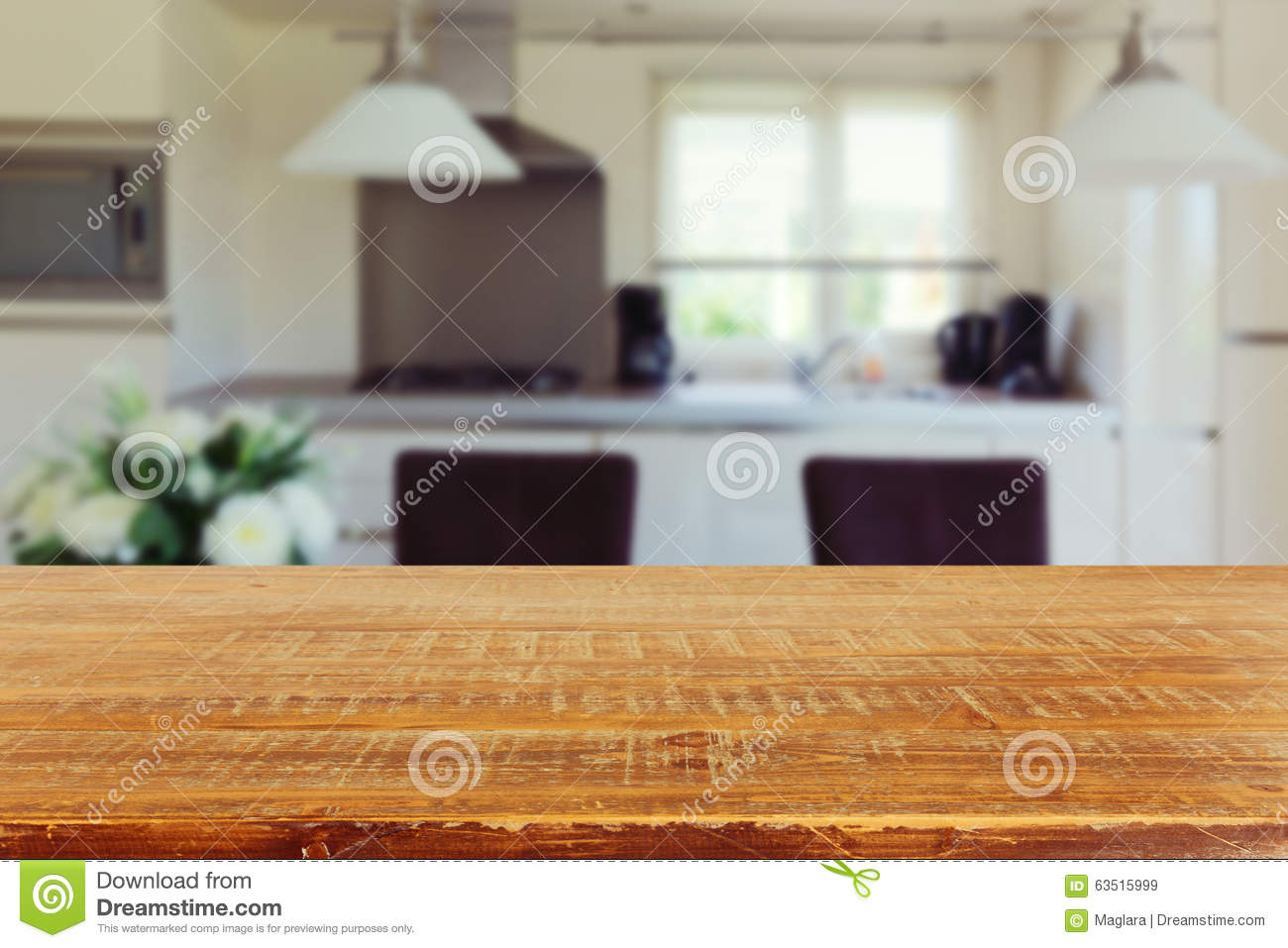 Kitchen Table Background Amusing Interior Background With Empty Kitchen Table Stock Photo  Image Design Decoration